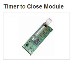 Timer to Close Doors Automatically. Available for RMX®, RSX® and RHX® operators.