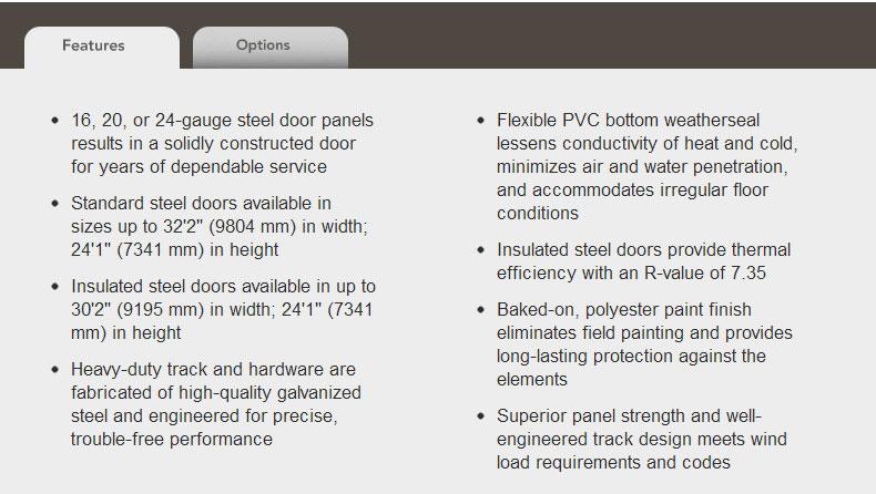 Sectional Steel Doors Description
