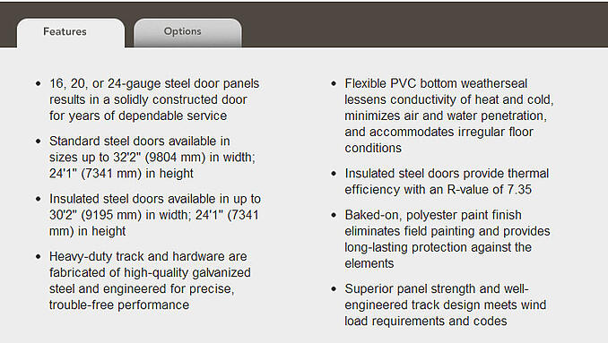 Sectional Steel Doors Description