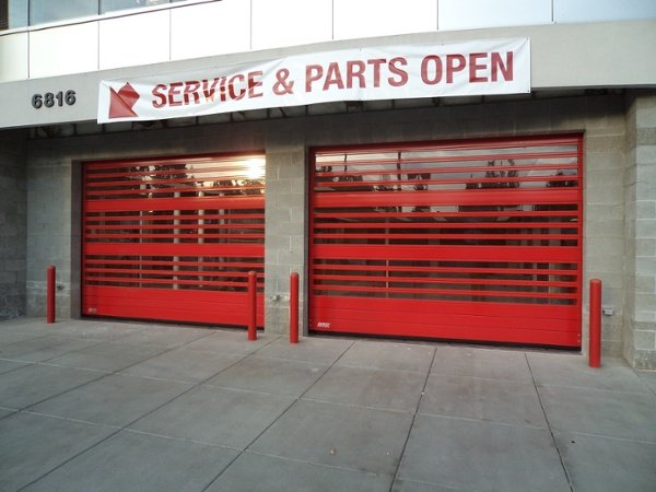 Autodealer High-Speed Aluminum Garage Doors by Rytec