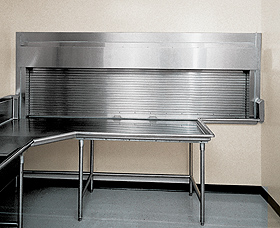 Rolling Counter Door in a Kitchen Series 655, 656, 657 and 658