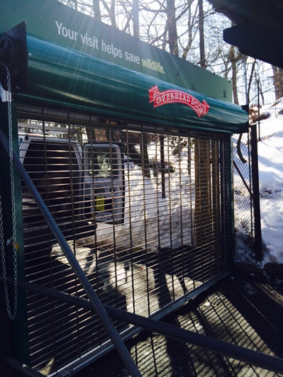 Rolling security grilles at the Bronx Zoo!