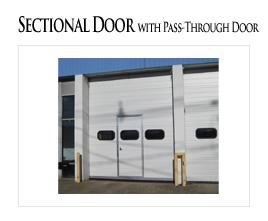 Sectional Door with Pass Through Door