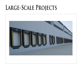 Large scale commercial overhead doors projects