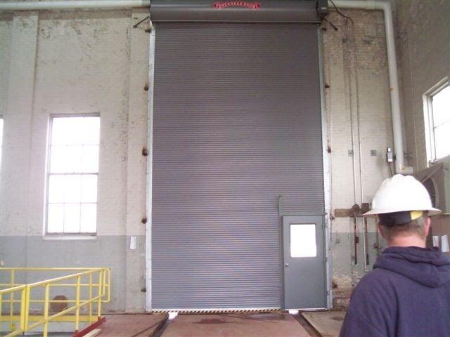 Roll Down Door with Man Door; Rolling Door with Pass Door