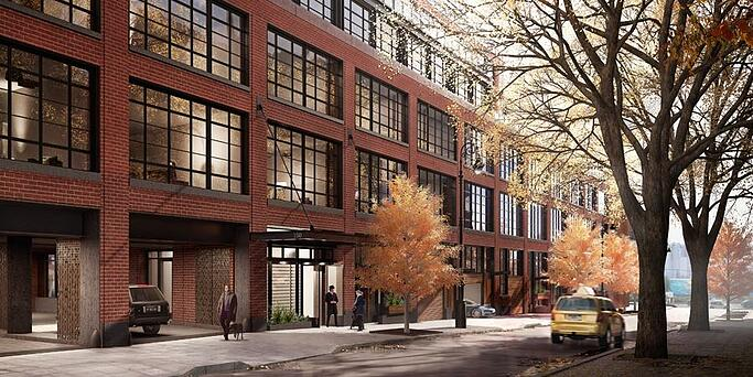Wood Garage Doors For Townhouses At 150 Charles Street