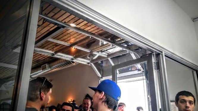 Project snap shot alementary micro brewery in hackensack for Bergen garage door