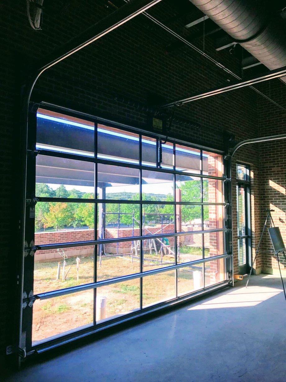Aluminum Glass Garage Overhead Sectional Roller Doors In New Jersey