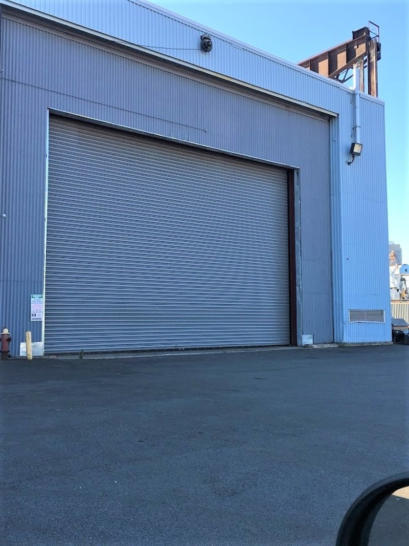 Roll Up Loading Dock Door Entrance into Loading Bay Area