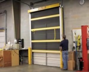 Roll-Up Bug Screen Door