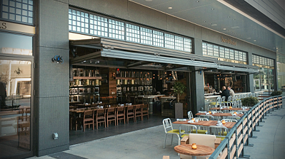 Canopy Type Bifold Doors With Glass - Commercial Doors NYC NJ 2
