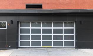 Commercial Aluminum Glass Overhead Doors - Polycarboate Glazing Options
