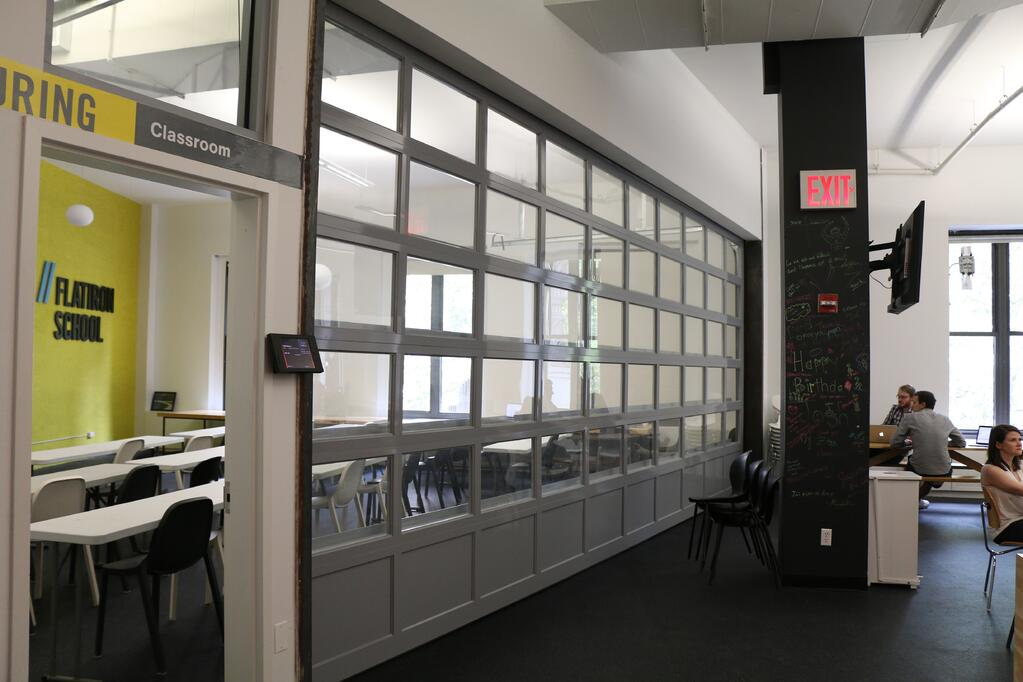 Conference Room Wall Divider Glass Rollup Garage Door