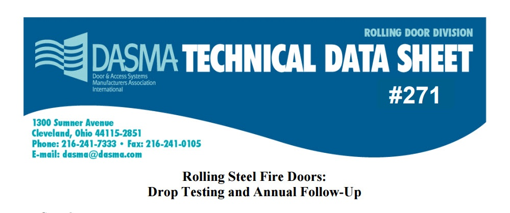 Rolling Steel Fire Doors Drop Testing And Annual Follow Up