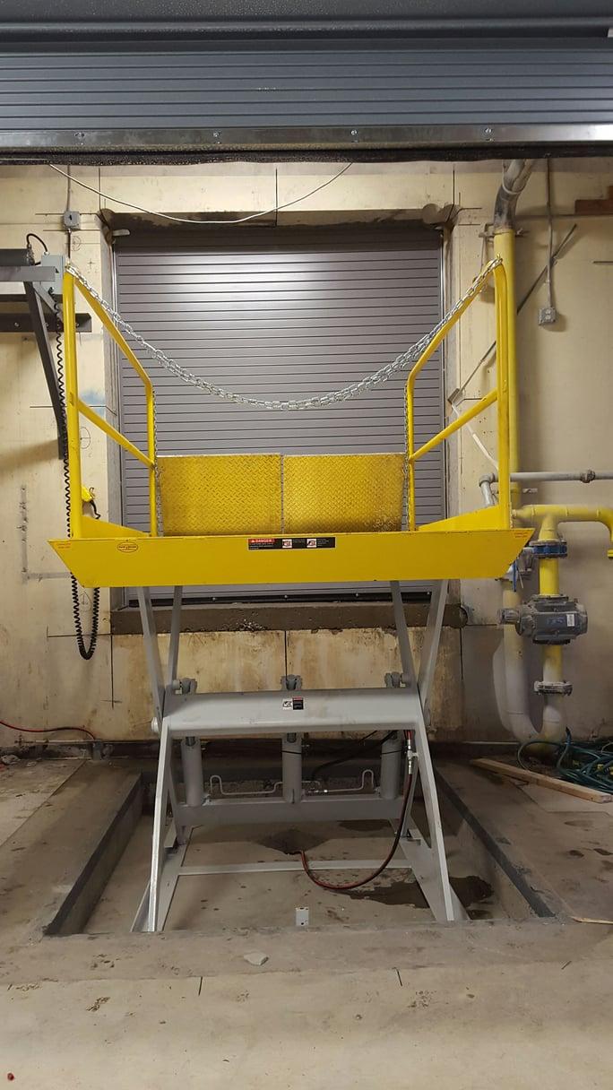 Scissor Dock Lift Elevators For Trucks Materials Pallet