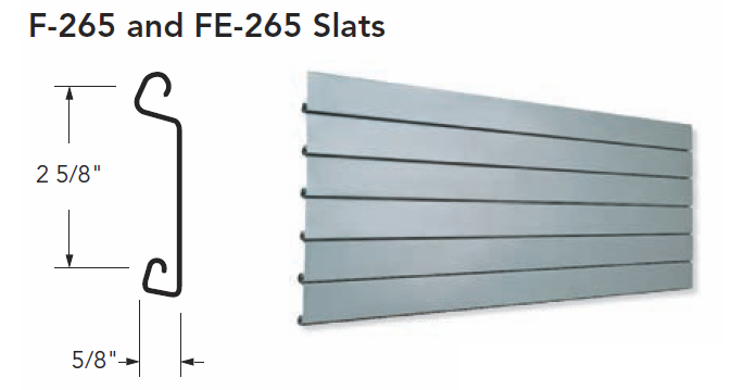 F-265 & FE-265 Slats for Coiling Doors, Roll Up Doors