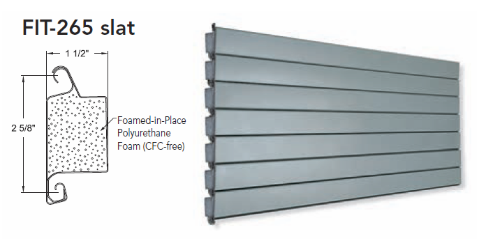 FIT-265 Slat for Coiling Doors, Roll Up Doors