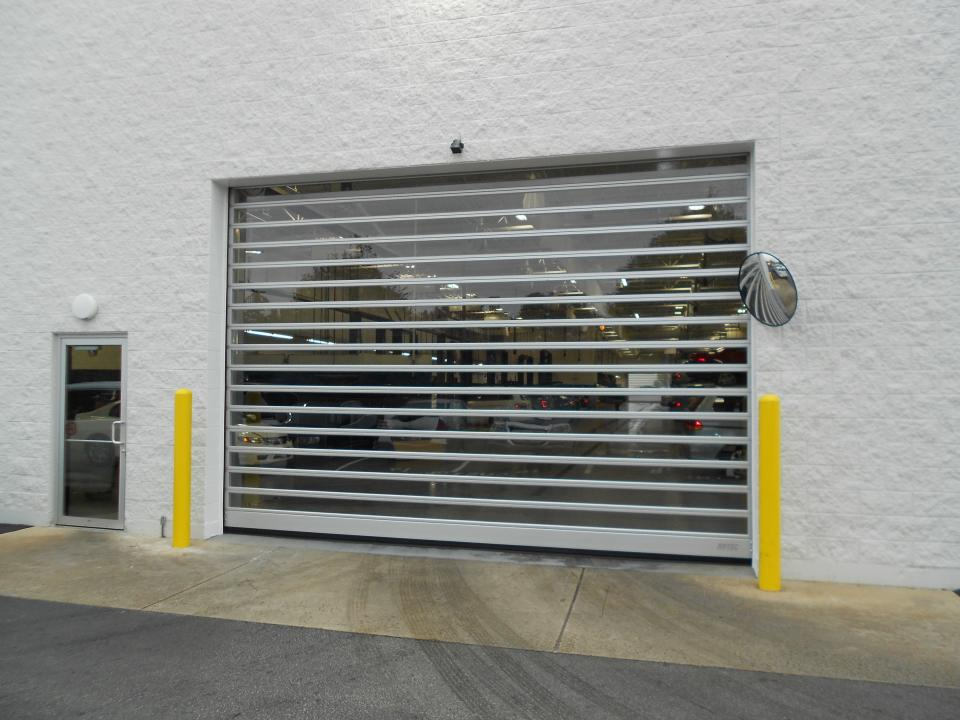 Fast-Speed-Rollup-Aluminum-Overhead-Door-Repair-New- ... & High Cycle Fast Speed Rollup Door Repairs (Cloth Fabric Metal ...