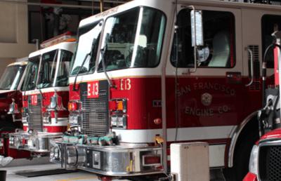 Fire Trucks in Fire Station NYC NJ