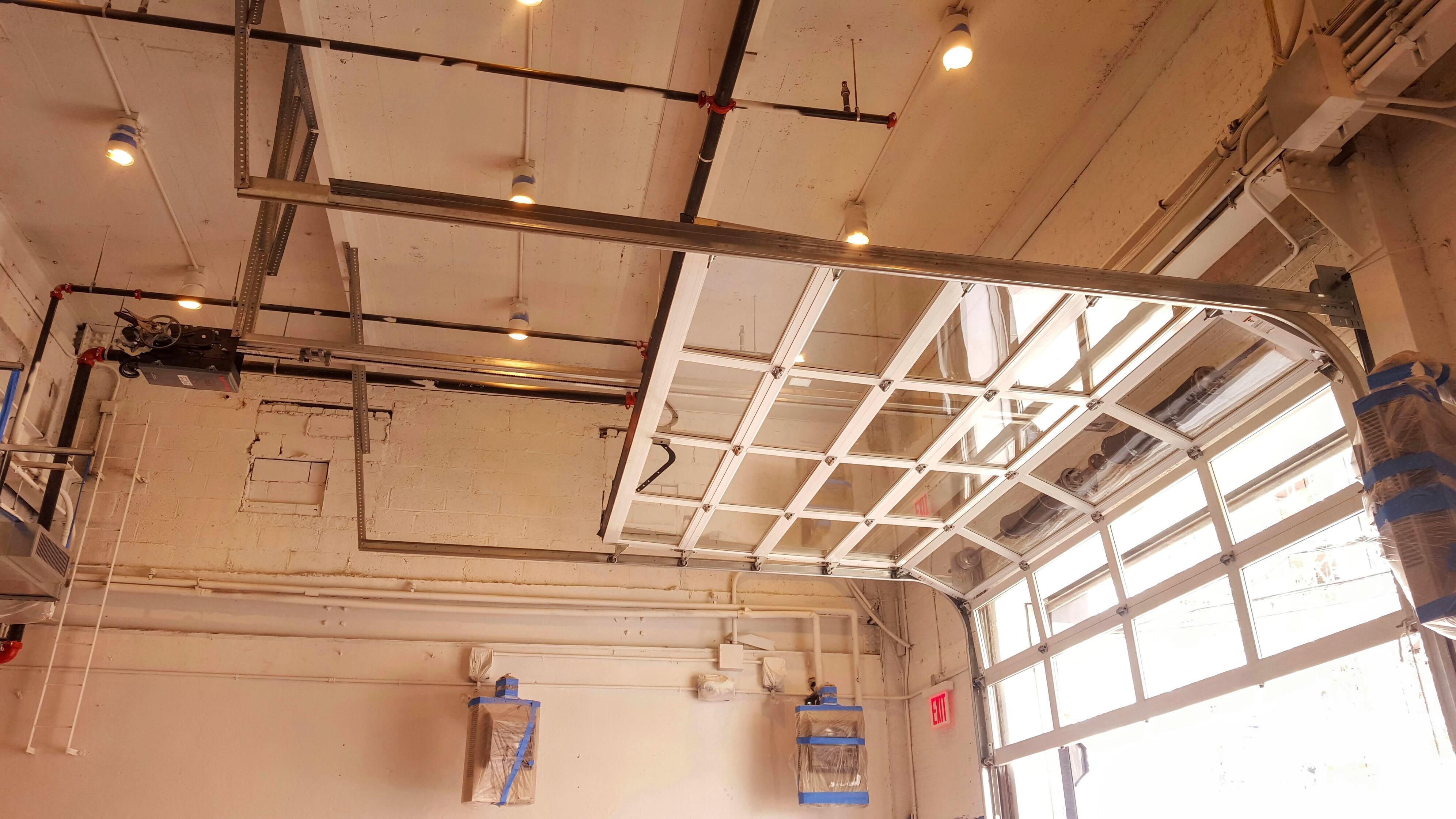 Glass Roller Garage Overhead Door 521 Series NYC
