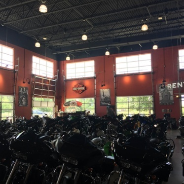 Harley Davidson Glass Garage Door Full Vertical Lift Track