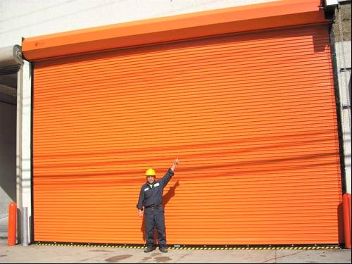 Orange Rolling Steel Door