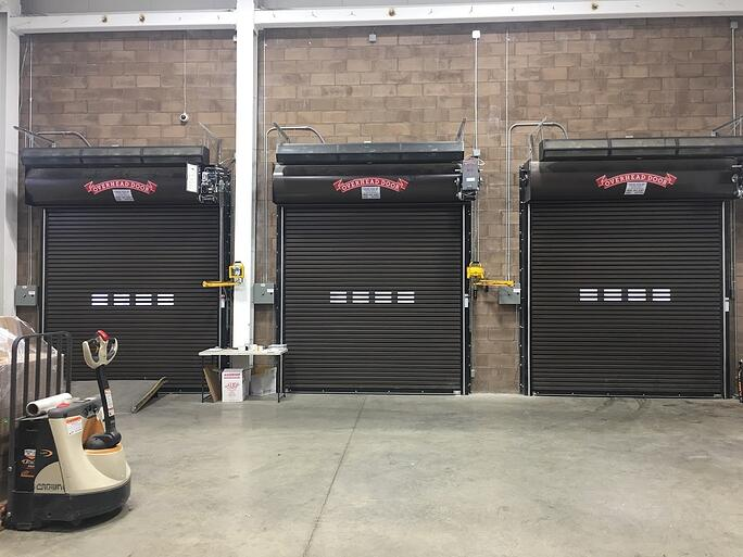 Preventative Maintenance for Rolling Steel Gate Doors Overhead Door Company of the Meadowland & New Jersey; Brown rolling steel doors installation.
