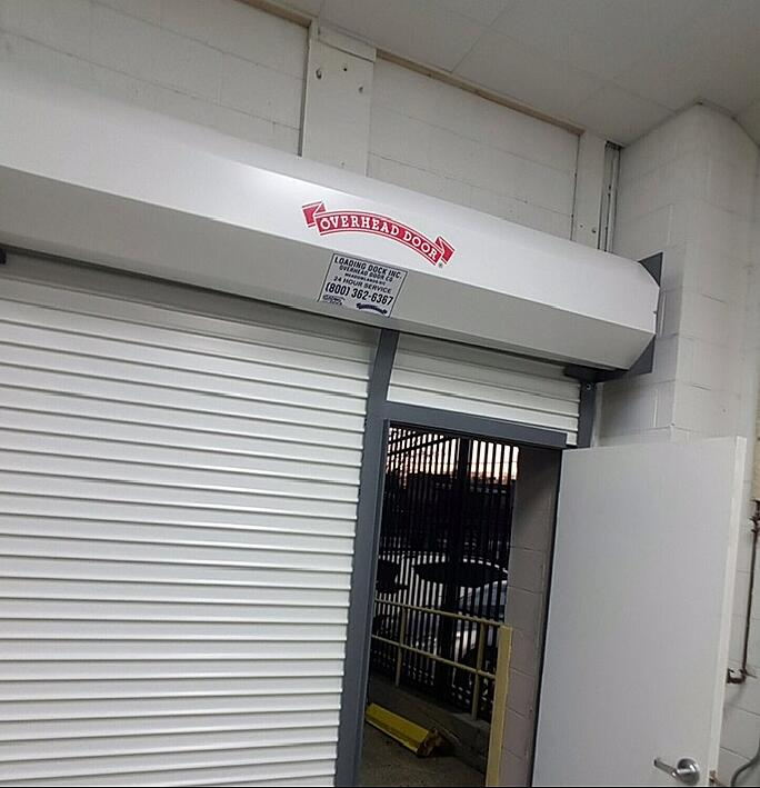 Overhead Sectional Door With Man Door : Roll down door with man