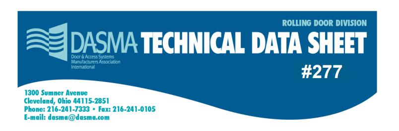 Rolling Door Gate Terminology Dasma Technical Sheet 277, TDS277.png