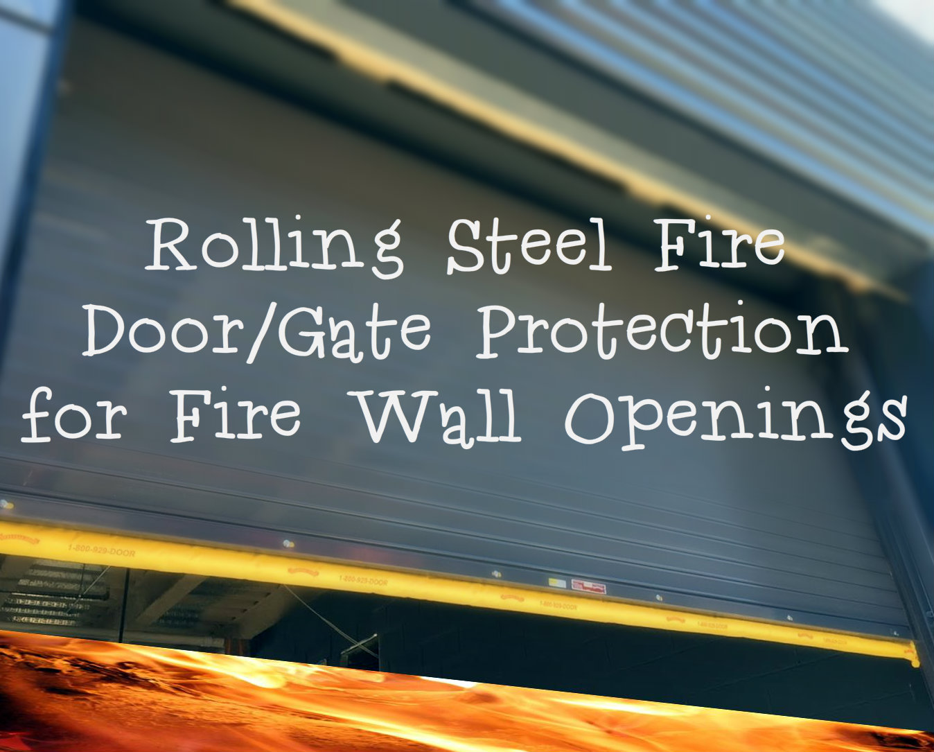 Rolling Steel Fire Door Gate Protection for Fire Wall Openings fire.