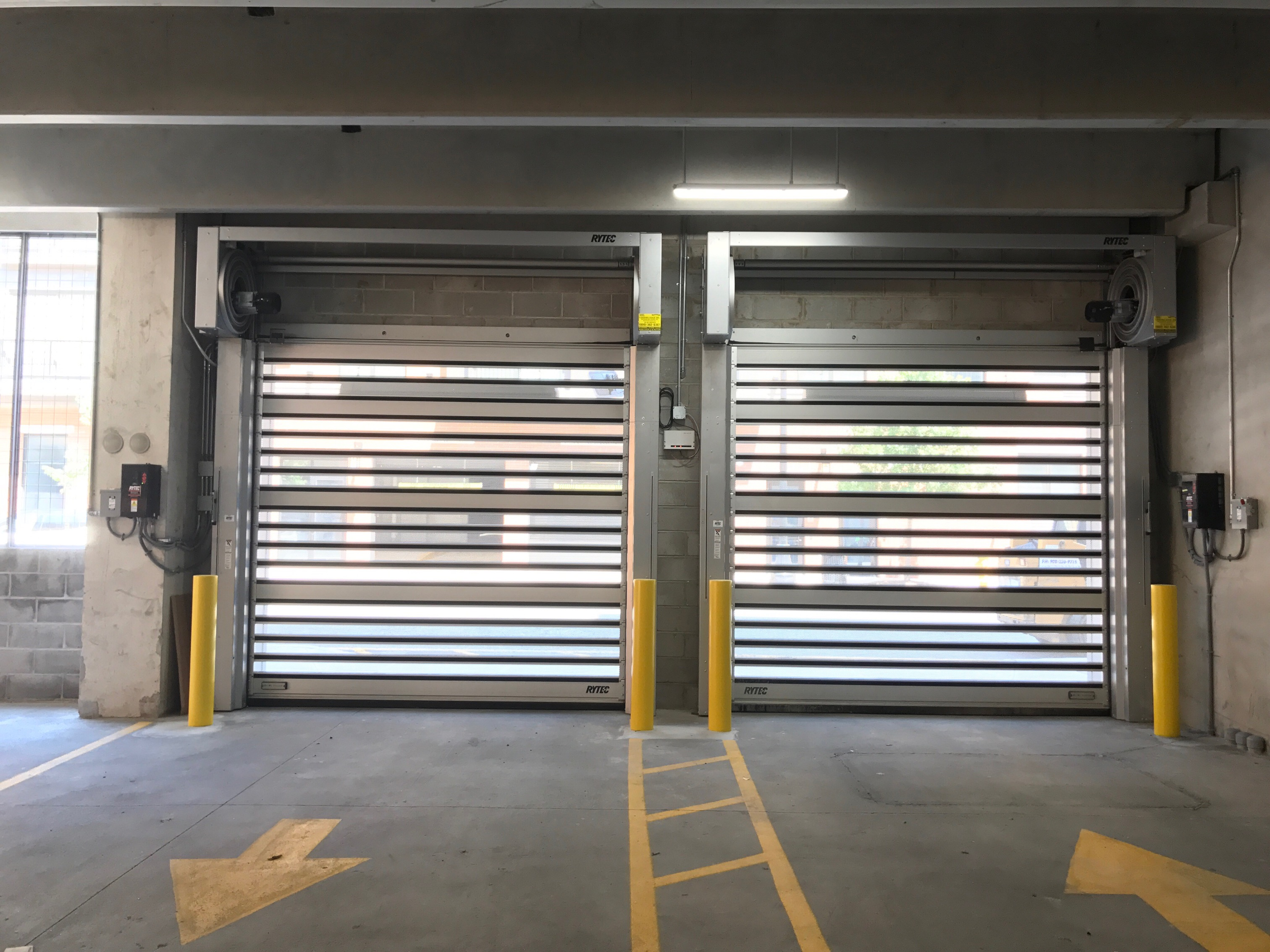 Rytec Spiral VT Doors: High-Speed Parking Garage Doors