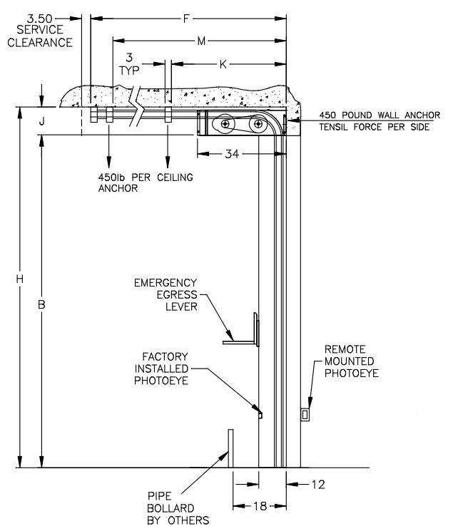 quick guide low headroom sectional and rolling door products for Overhead Garage Door Diagram