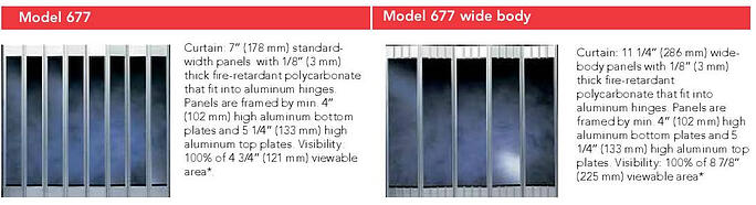 Side Security Grilles 677 and 677 Wide Body Features