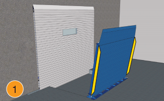 Vertical Dock Levelers for Cold Storage Facilities by Blue Giant 1