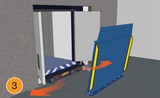 Vertical Dock Levelers for Cold Storage Facilities by Blue Giant 3