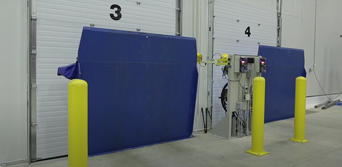 Vertical Dock Levelers for Cold Storage Facilities by Blue Giant