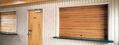 Wooden Counter Doors for Food Kiosks - Commercial Doors NYC NJ