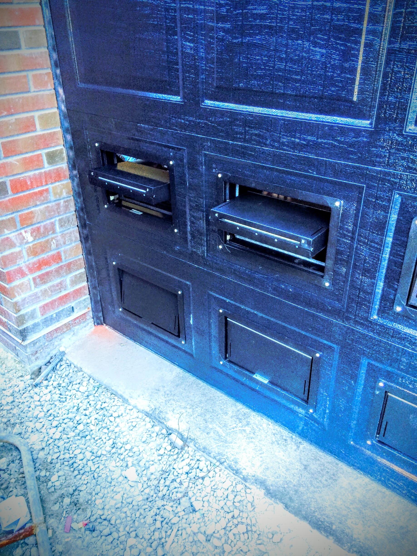 black_garage_door_vent_flood_louver_garage_door_jersey_city_nj.jpg. The vent door ... & Flood Vents for Parking Garage Doors pezcame.com