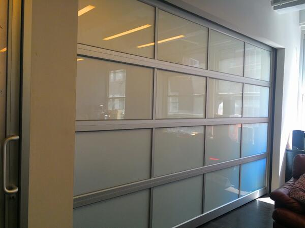 Frosted Glass Garage Rollup Door NYC