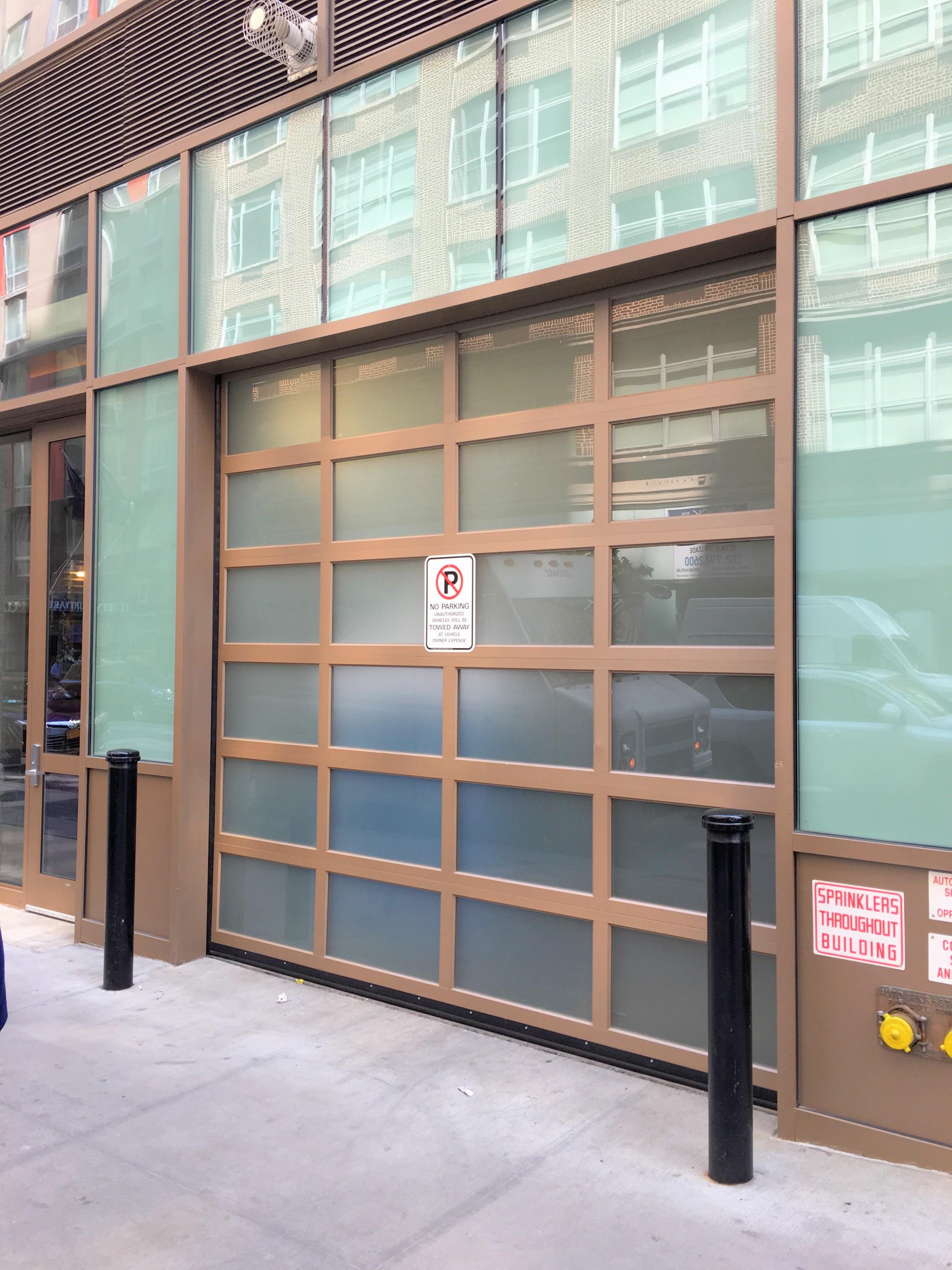 Hotel Loading Dock Glass Modern Garage Door