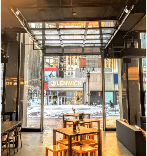 Aluminum Glass Door Installed in Food Court in NYC