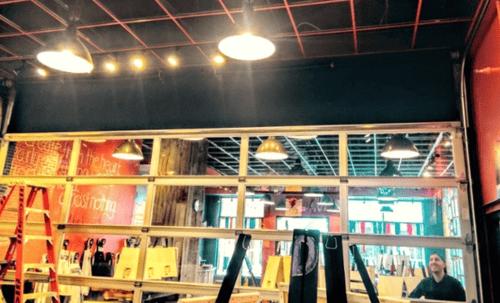 Overhead Aluminum Glass Garage Door Installed in Bar NJ