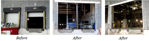 Before and After Photos from Mullion System in MetLife Stadium