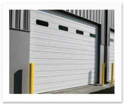 insulated sectional steel door model 422