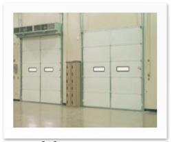 insulated sectional steel door model 426