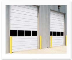 insulated sectional steel door model 432