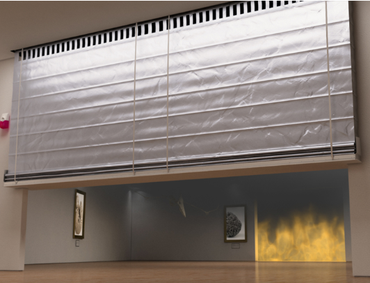 Fire Resistant Curtain - Stoebich Fire Curtain V