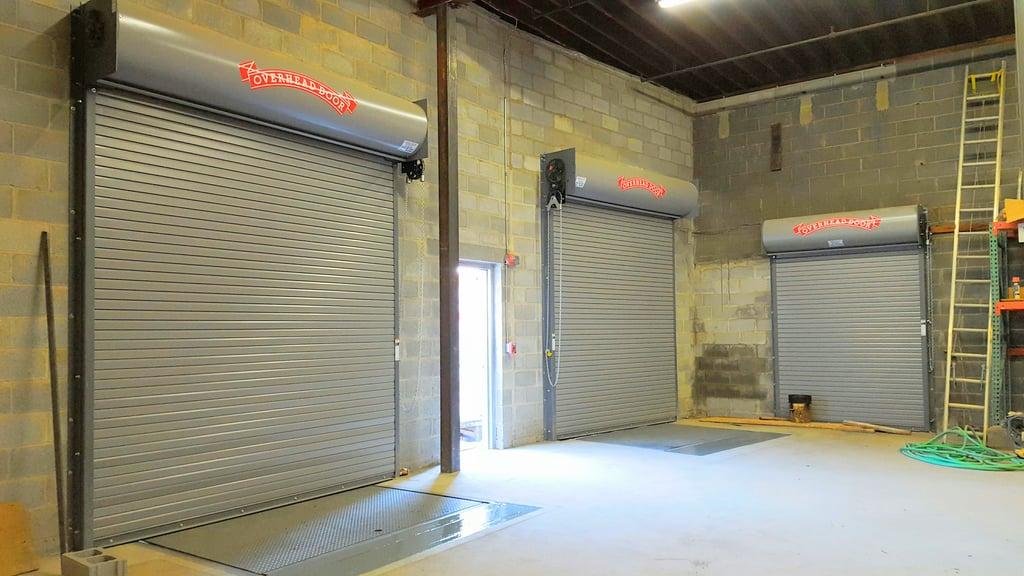 Rolling steel doors for Bergen garage door