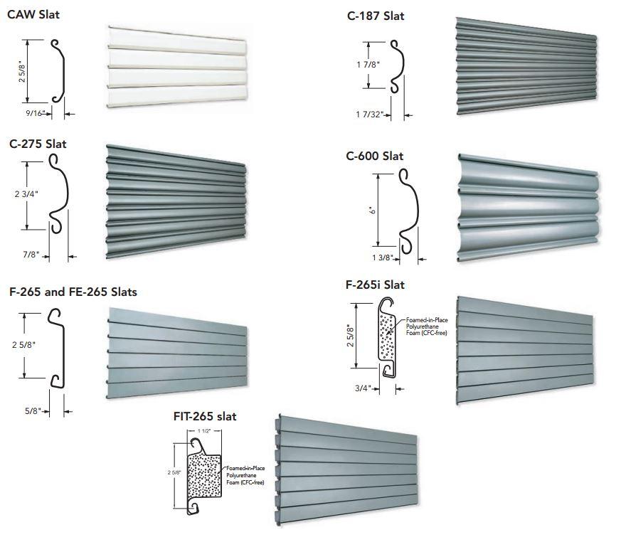 metal_slat_overhead_door_repair_nj_nyc.jpg  sc 1 st  Overhead Door Company & Non-Insulated \u0026 Insulated Metal Slat Overhead Coiling Door Slat Profiles