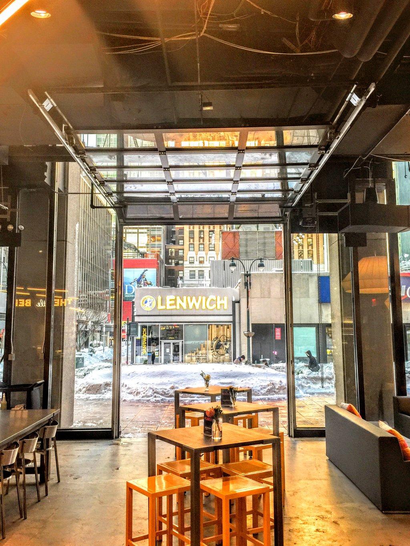 Aluminum glass garage overhead sectional roller doors in new nyc glass garage door food courtg eventelaan Images